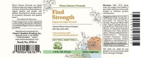 Find Strength (Suppressed Anger Formula) (2 fl. oz.)