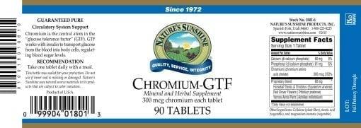 Chromium GTF - 300 mcg.