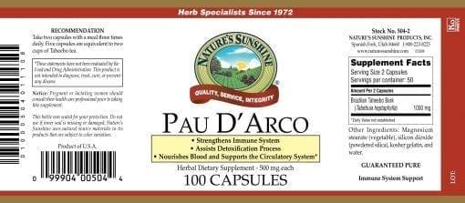 Pau D'Arco (100 capsules)