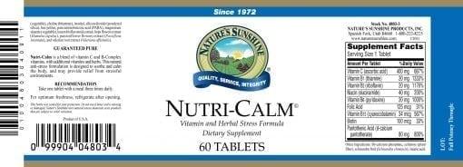 Natures Sunshine Nutri-Calm (60 tablets)