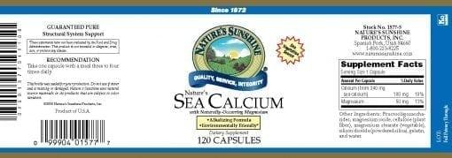 Nature's Sea Calcium (120 Capsules)