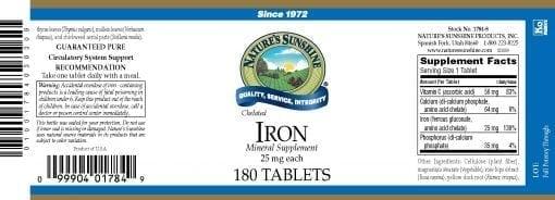 Iron, Chelated - 25mg.