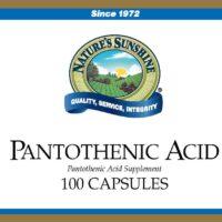 Pantothenic Acid - 250 mg.