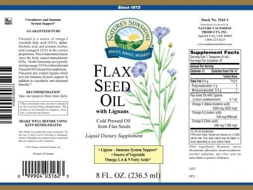 Flax Seed Oil Liquid