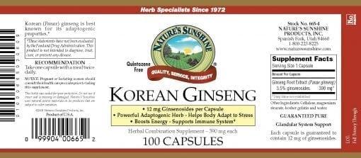 Ginseng, Korean