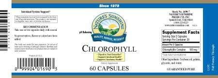 Chlorophyll Capsules (60 gel caps)