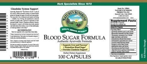 Blood Sugar Formula, Ayurvedic