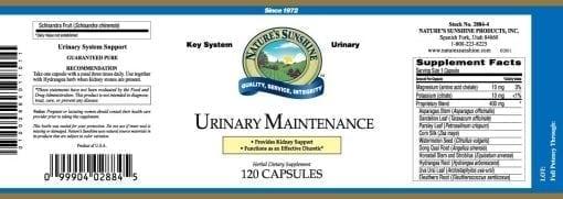 Urinary Maintenance