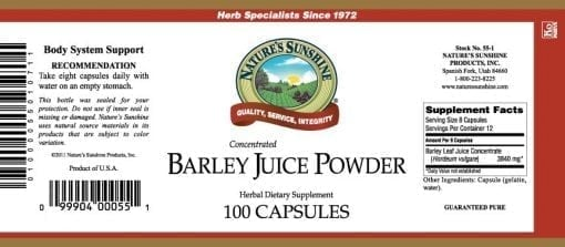 Barley Juice Powder, Concentrated