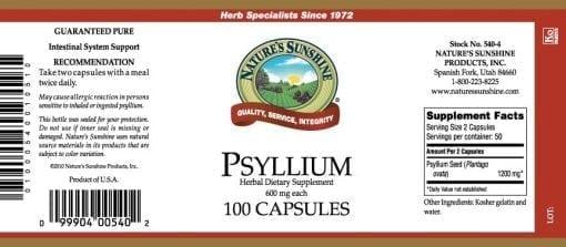 Psyllium Seeds (100 capsules)