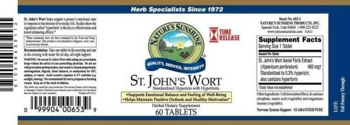 St. John's Wort Concentrate Time Released (60 tablets)