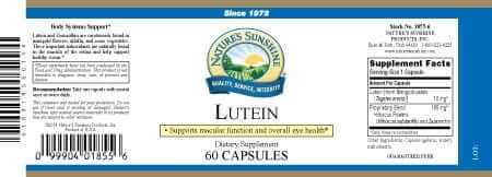 Lutein - 10 mg.