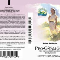 Pro-G-Yam Progesterone Cream - 500 mg.