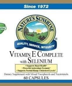 Vitamin E Complete w/ Selenium (60 gel caps)