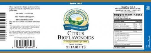 Vitamin C, Citrus Bioflavonoids - 500 mg.