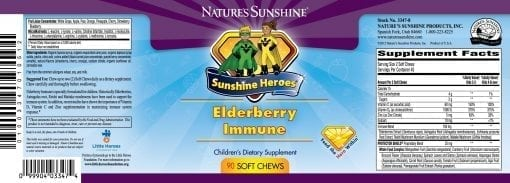 Sunshine Heroes Elderberry Immune