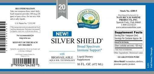 Silver Shield Aqua Sol Technology (Colloidal Silver) - 18 ppm
