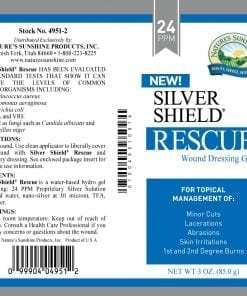 Silver Shield Rescue Gel Aqua Sol Technology - 1 oz (24 ppm)