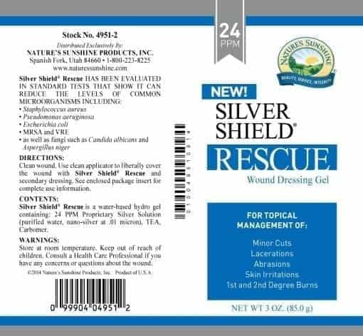 Silver Shield Rescue Gel Aqua Sol Technology - 1 oz (24 ppm)