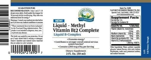 B12, Complete Liquid Methyl Vitamin