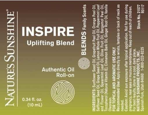 Inspire Uplifting Blend Roll-On - 100% Essential Oils