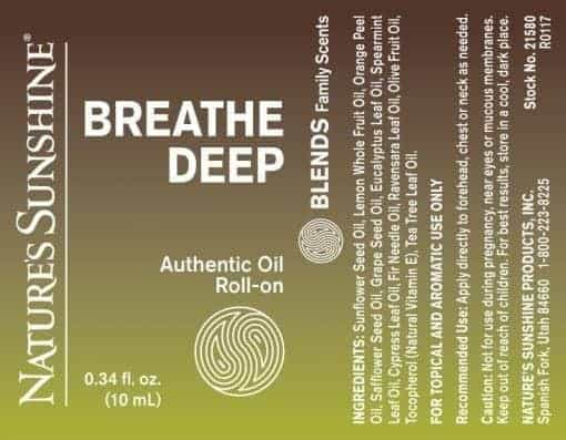 Breathe Deep Blend Roll-On - 100% Essential Oils